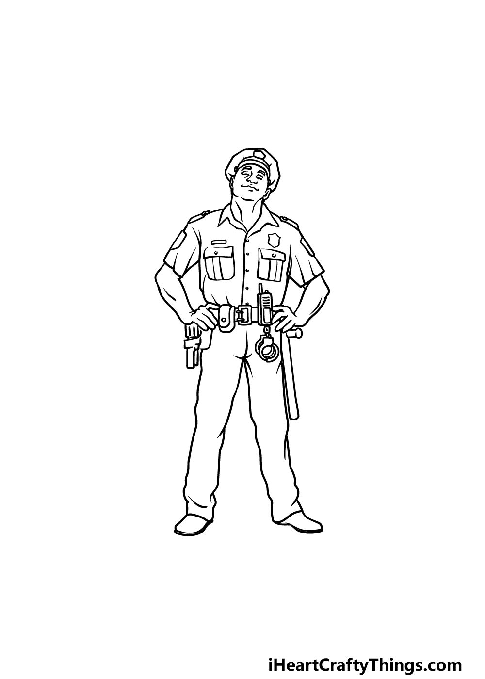 drawing a police officer step 6