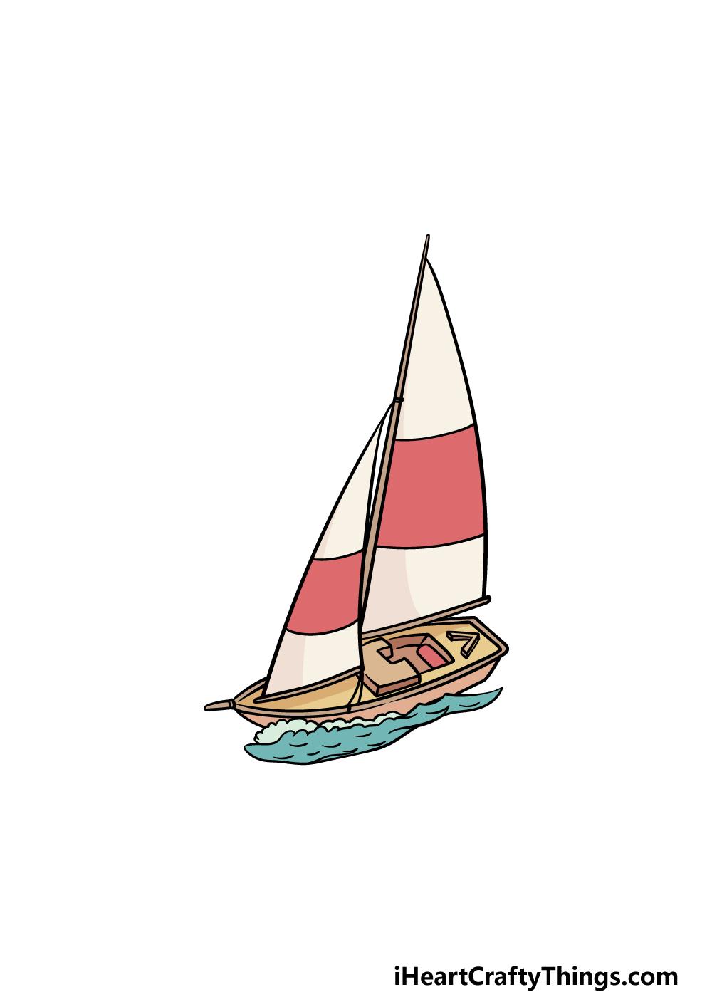 drawing a sailboat step 6