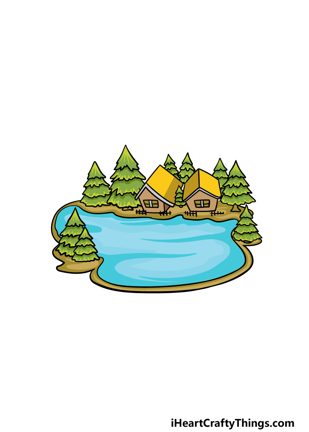 drawing a lake step 7