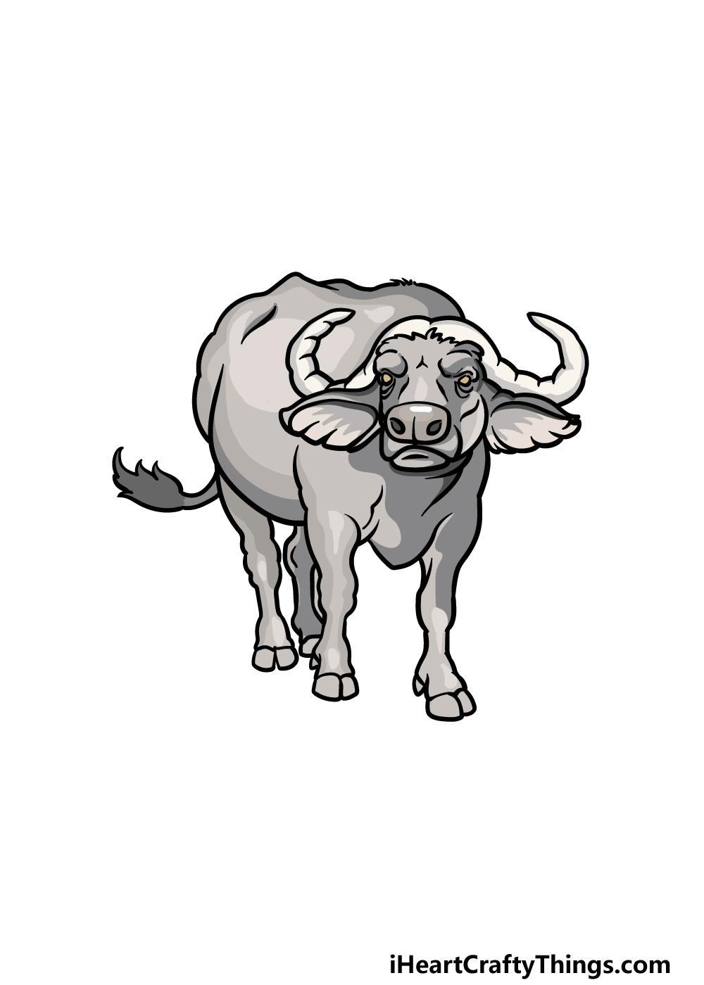 drawing buffalo step 7