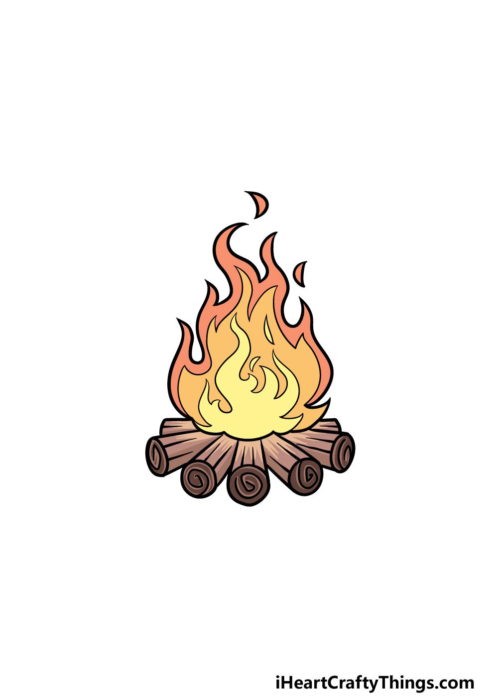 drawing campfire step 7
