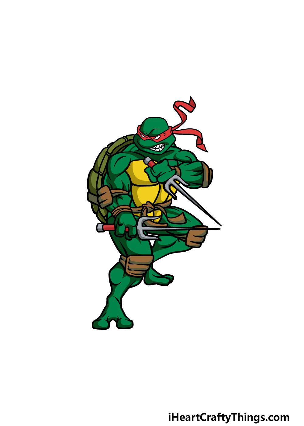 drawing ninja turtles step 7