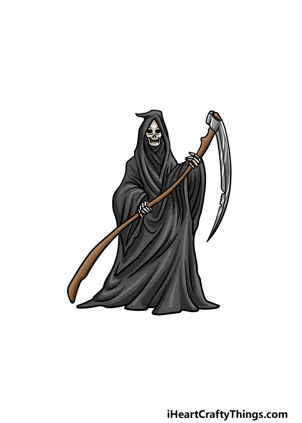 drawing grim reaper step 7