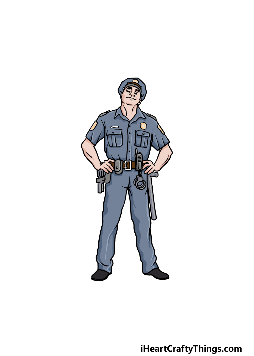 drawing a police officer step 7