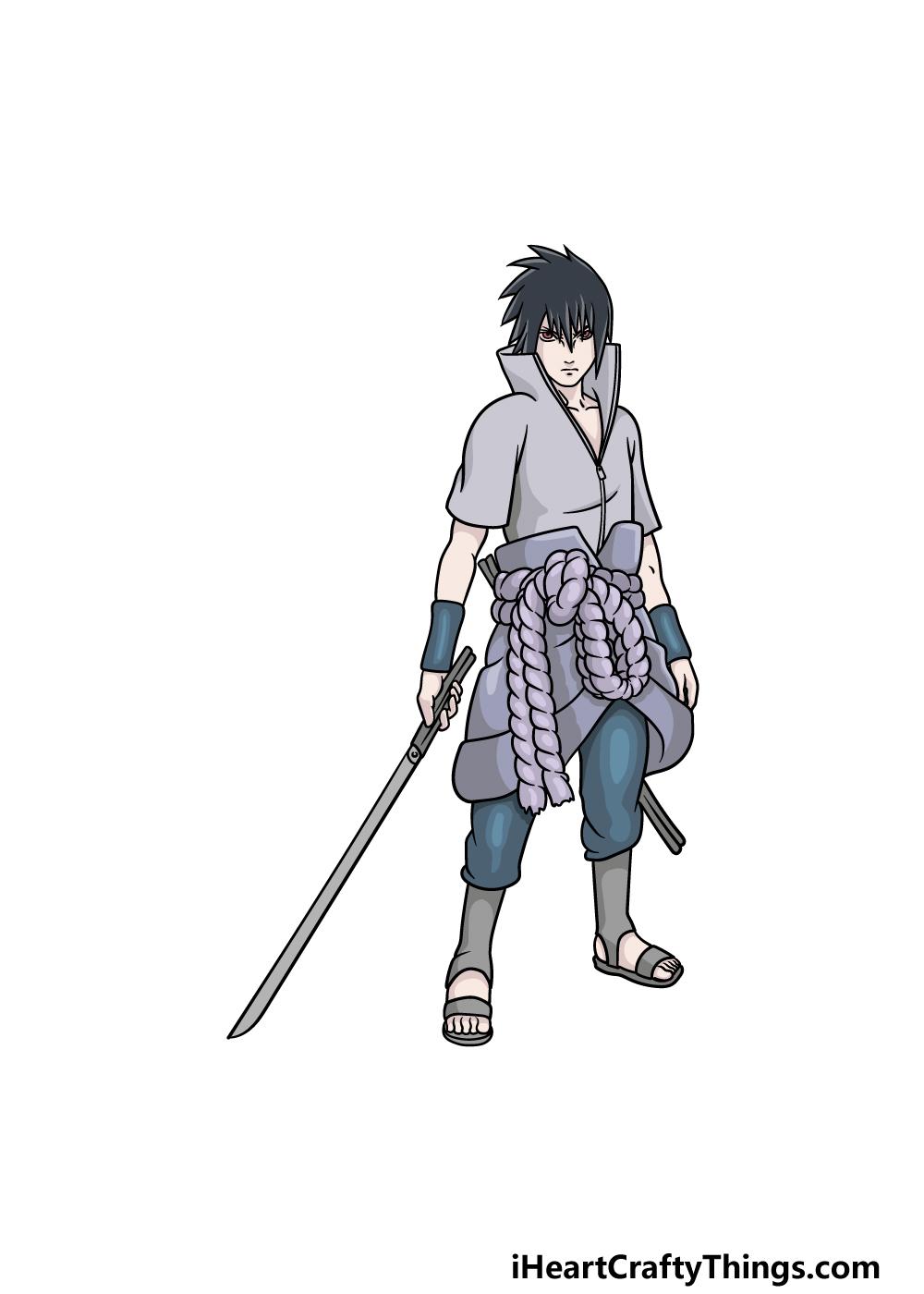 drawing Sasuke step 7