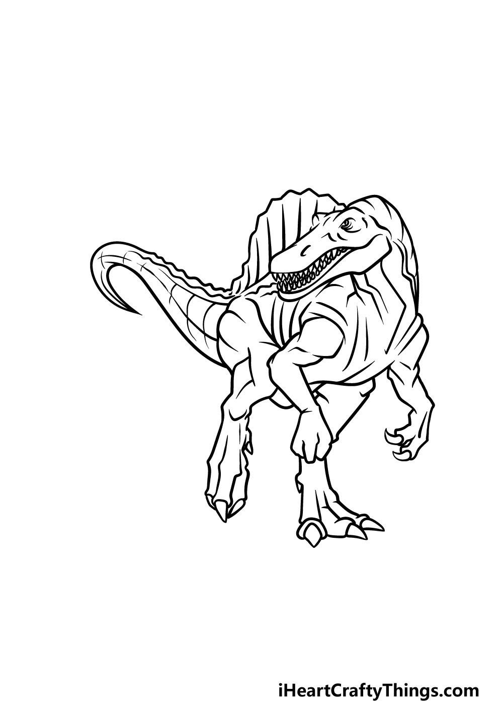 drawing Spinosaurus step 7