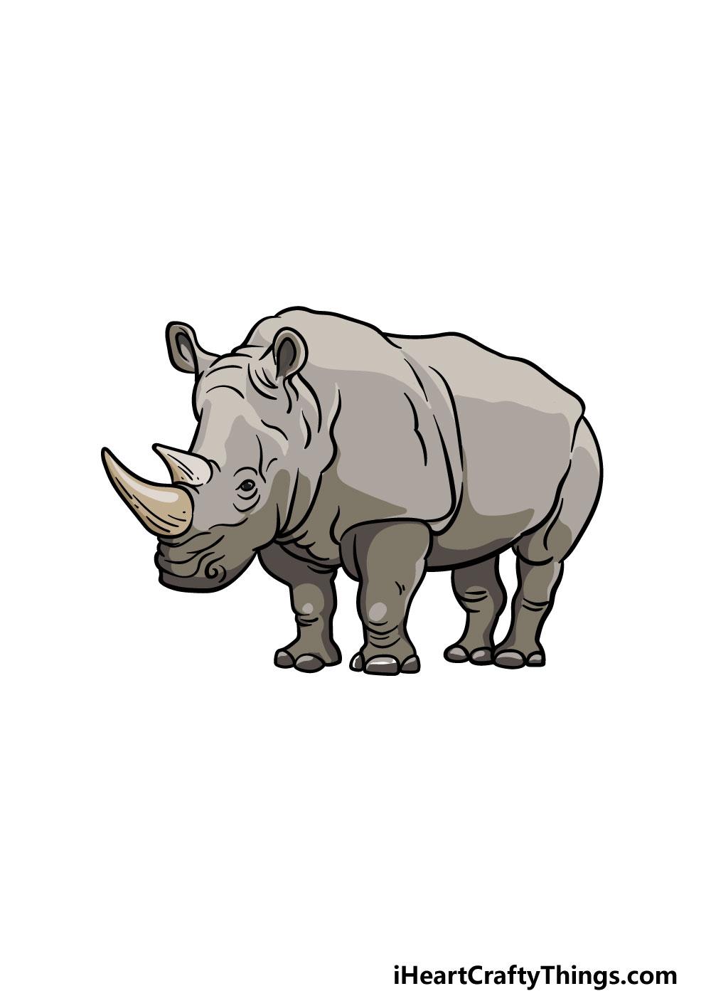 drawing a rhino step 7