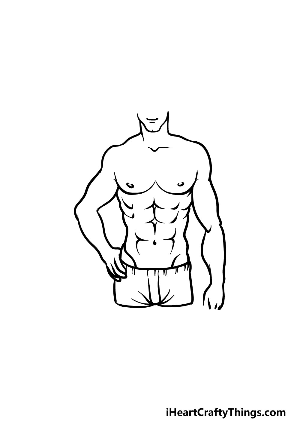 drawing torso step 7