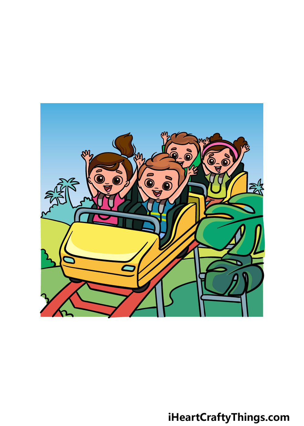 drawing a roller coaster step 7