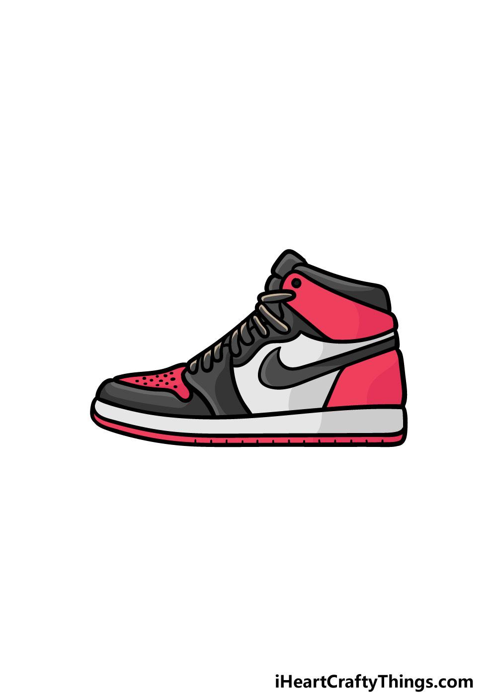 drawing air jordan shoes step 7