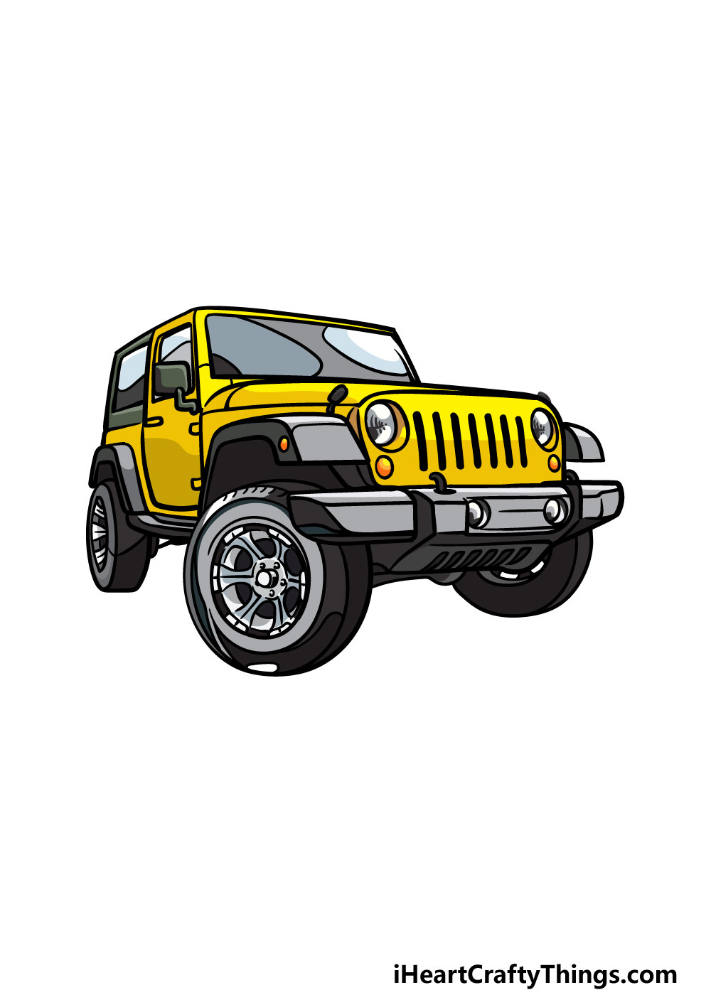 drawing a jeep 6 steps