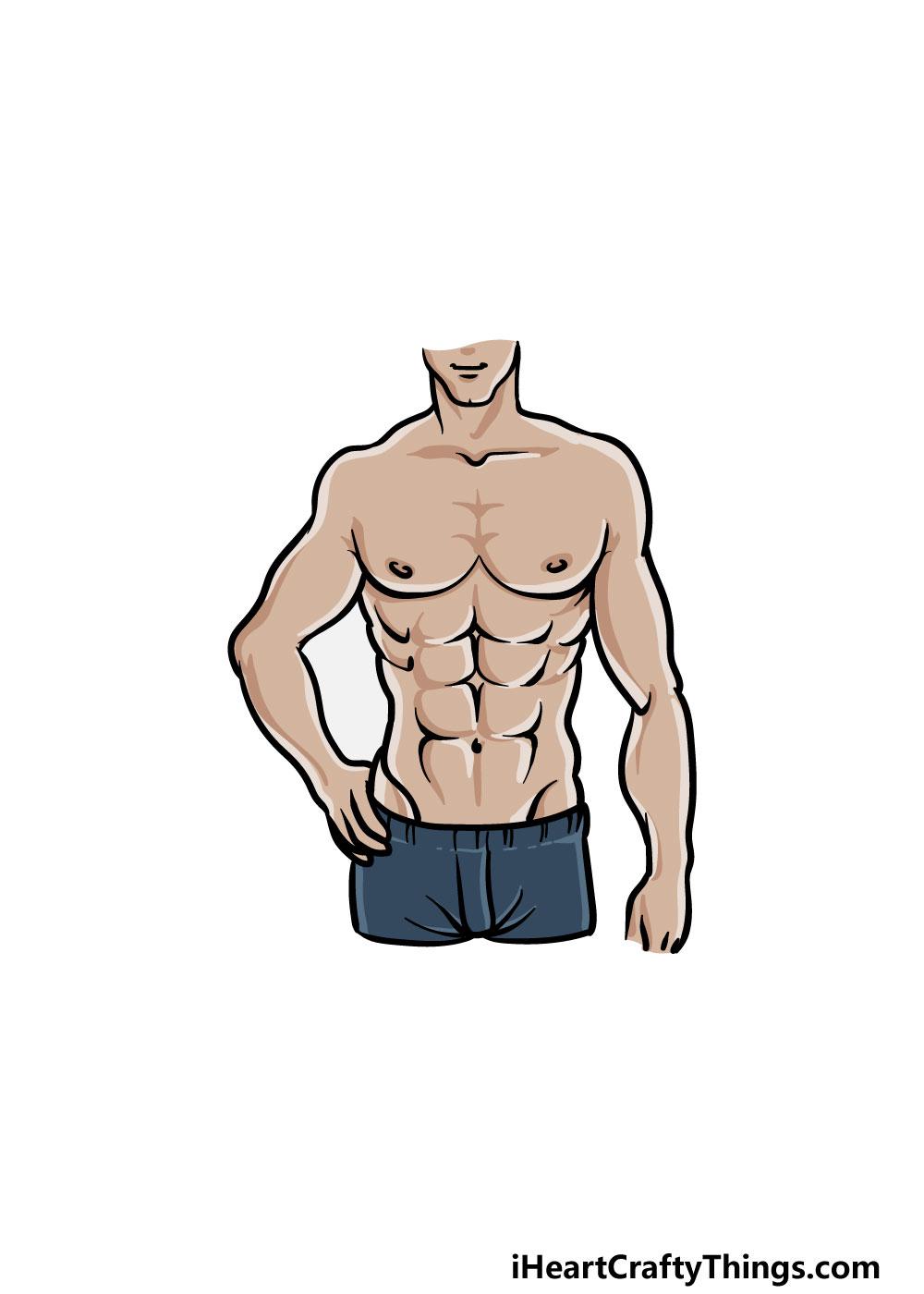 drawing torso step 8