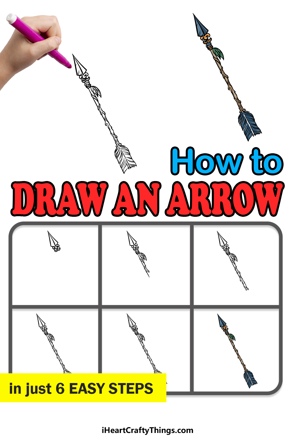 how to draw an arrow in 6 easy steps