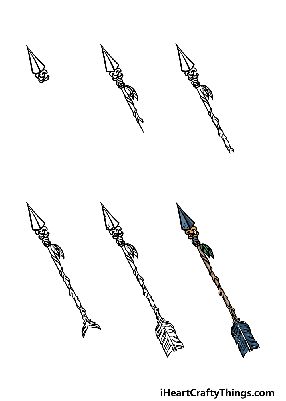 how to draw an arrow in 6 steps