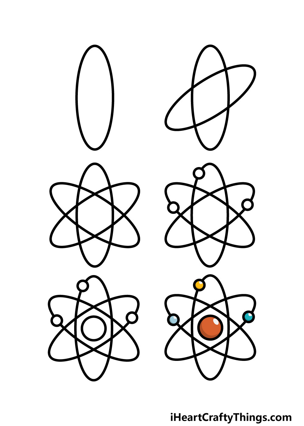 how to draw an atom in 6 steps