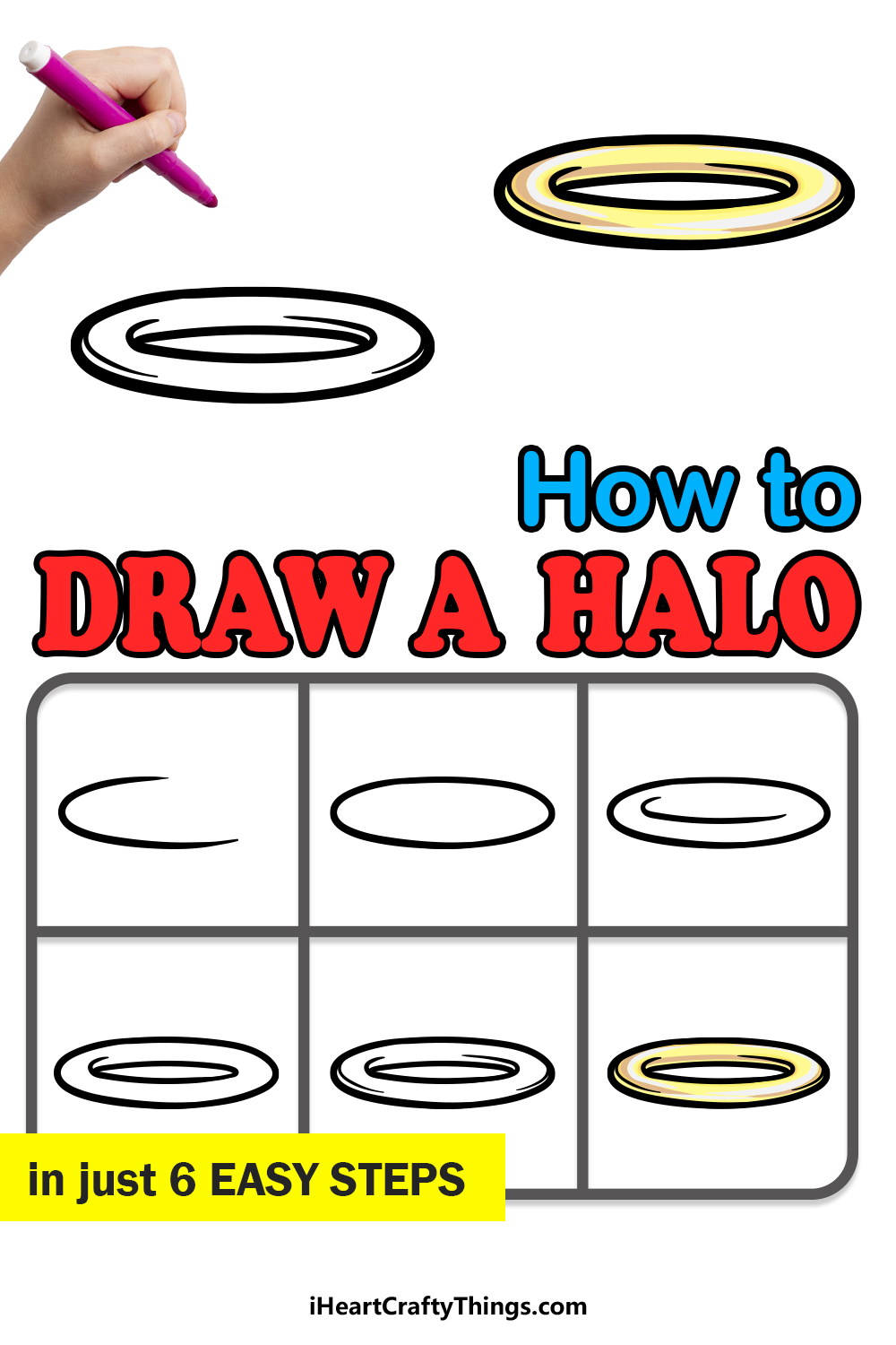 how to draw a halo in 6 easy steps
