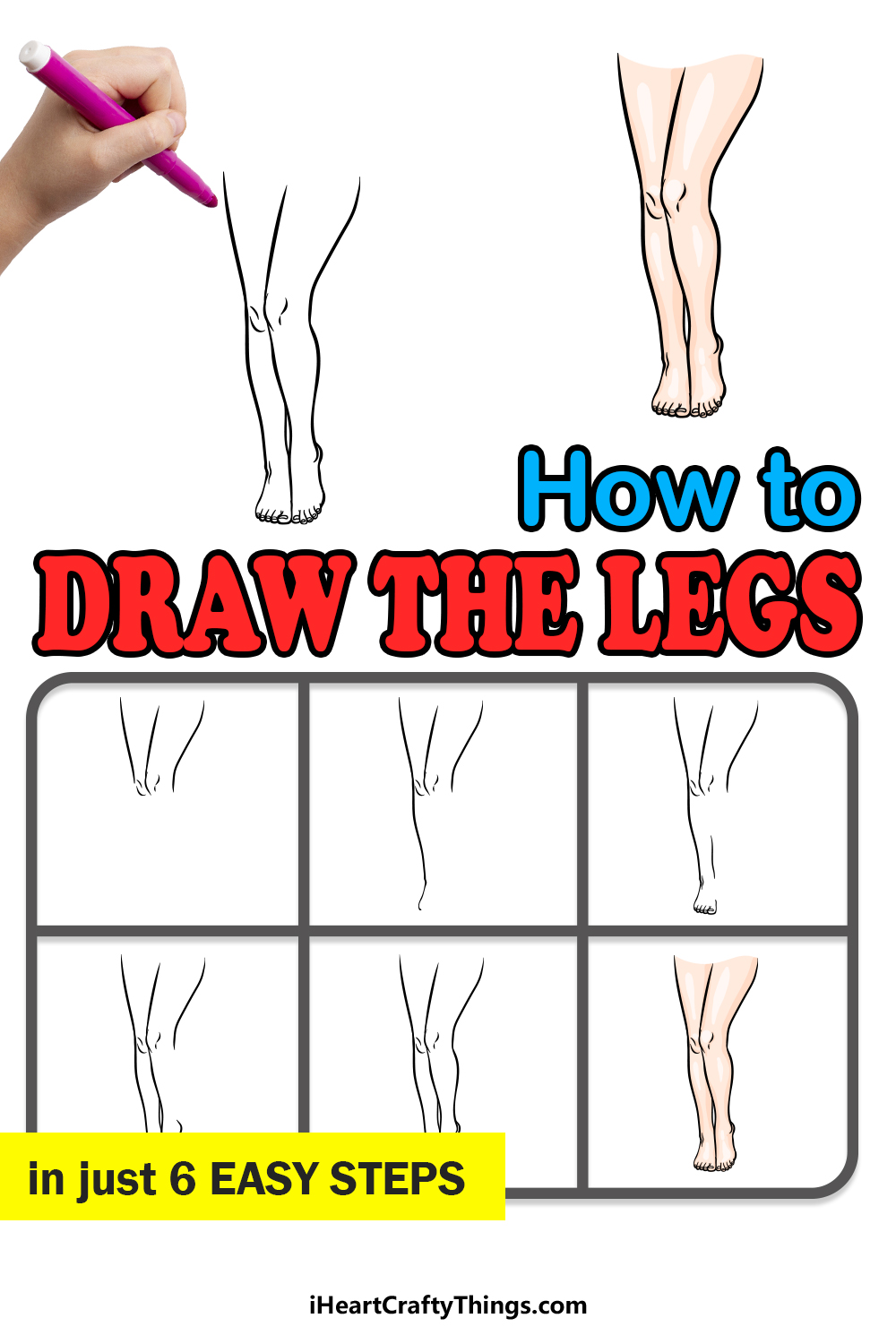 how to draw the legs in 6 easy steps