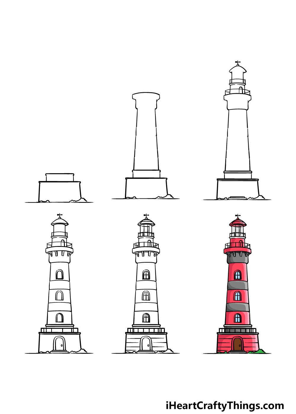 cách vẽ một ngọn hải đăng trong 6 bước