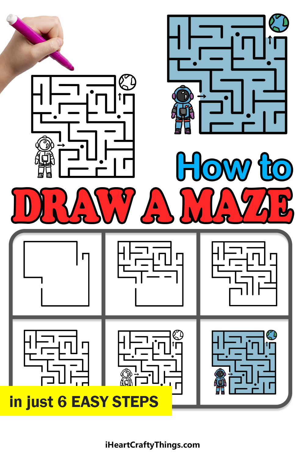 how to draw a maze in 6 easy steps