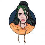 how to draw Billie Eilish image