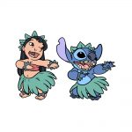 how to draw Lilo and Stitch image