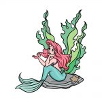 how to draw Ariel image