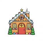 how to draw a gingerbread house image