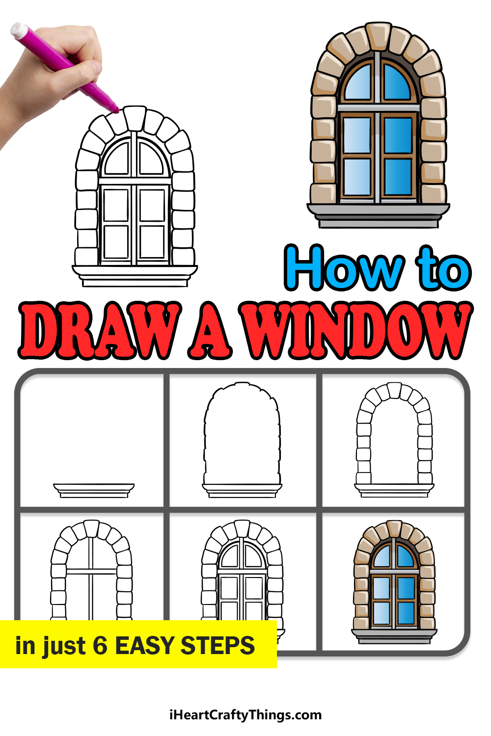 how to draw a window in 6 easy steps