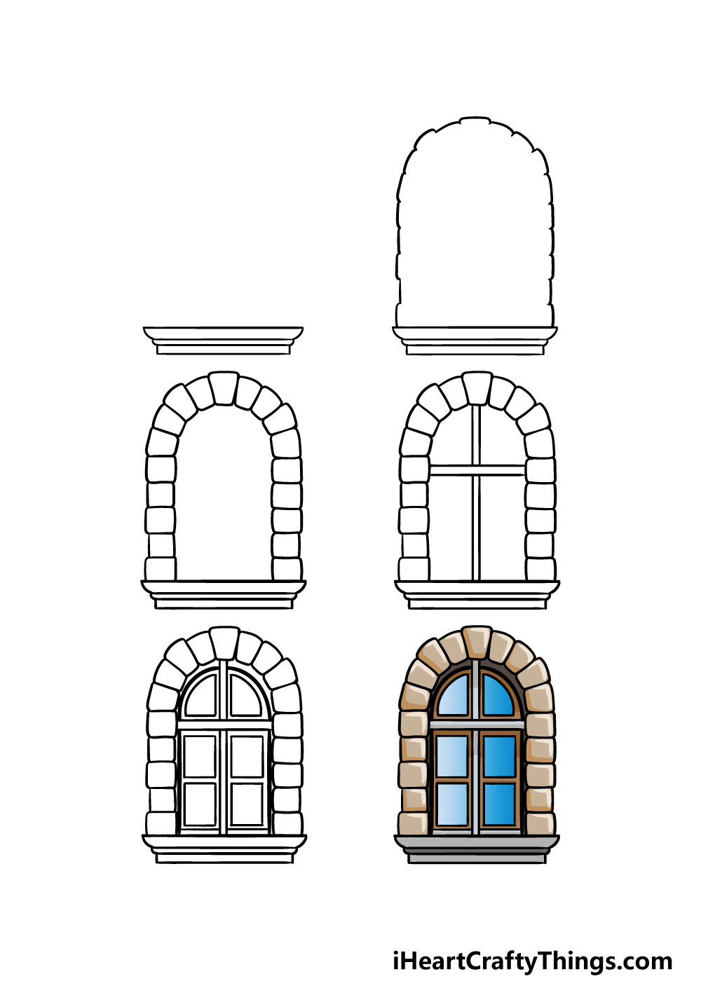 how to draw a window in 6 steps