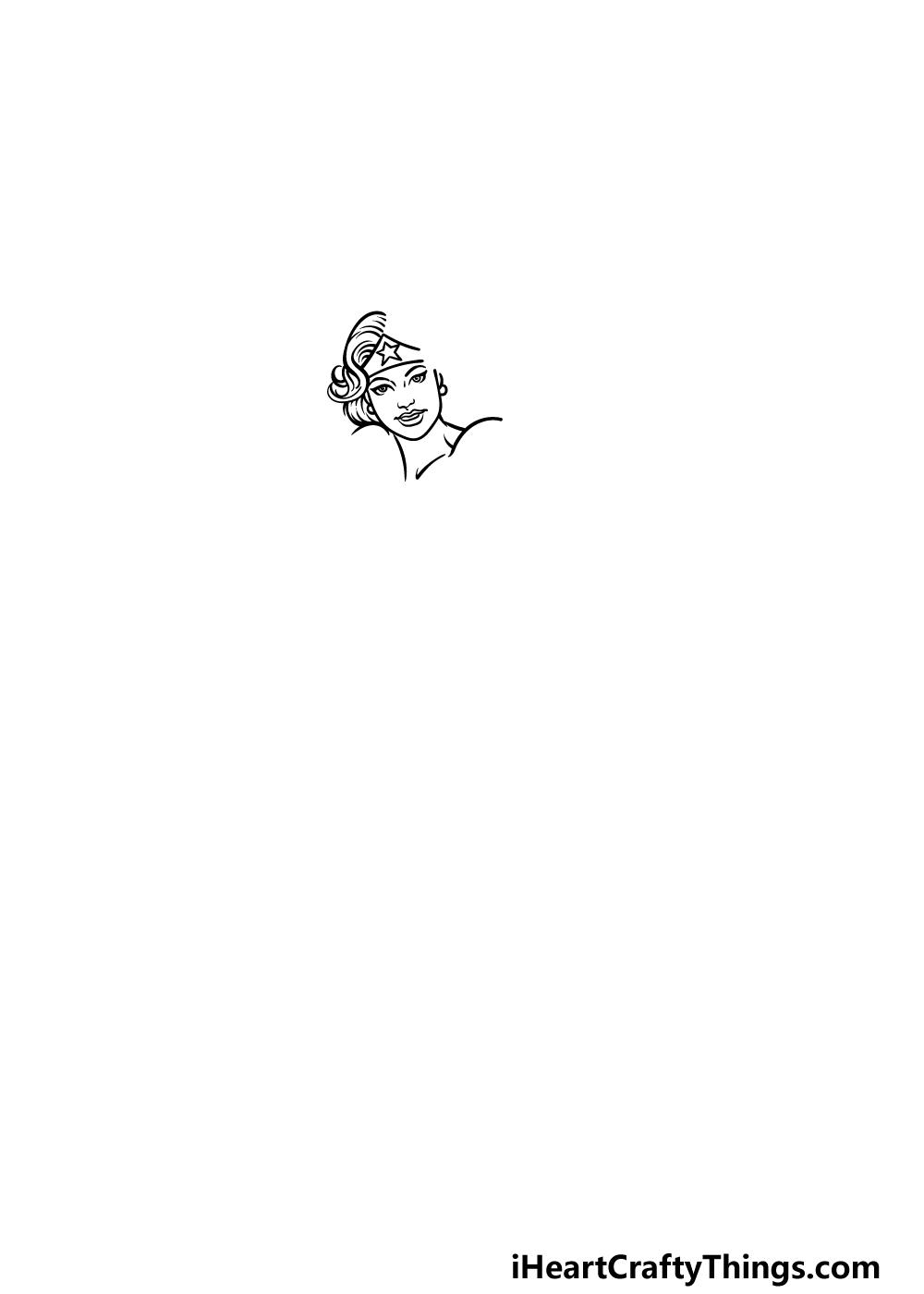 drawing Wonder Woman step 1