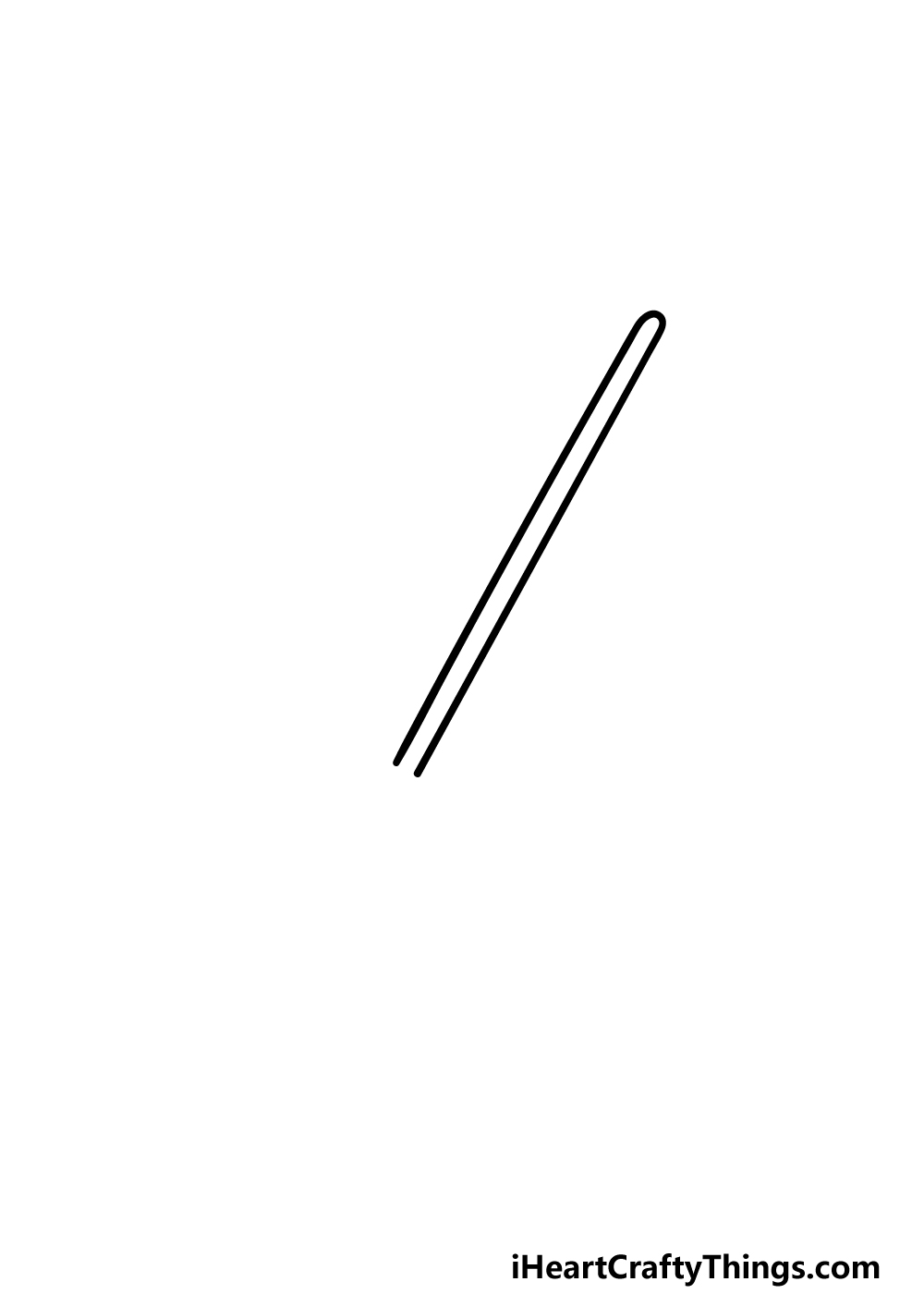 drawing a lightsaber step 1