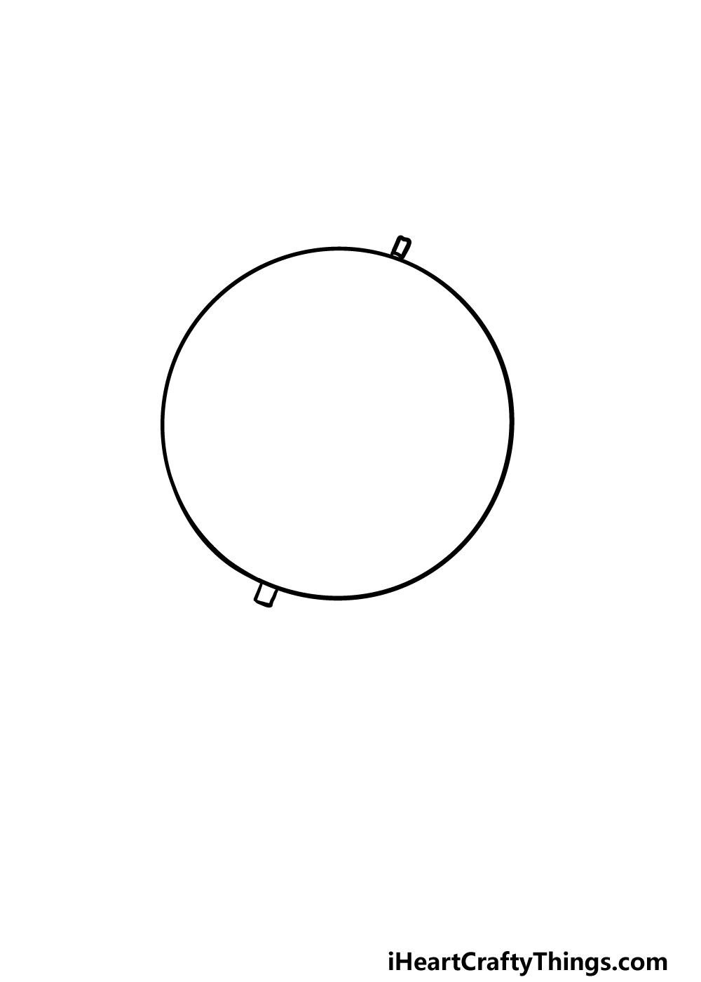 drawing a globe step 1