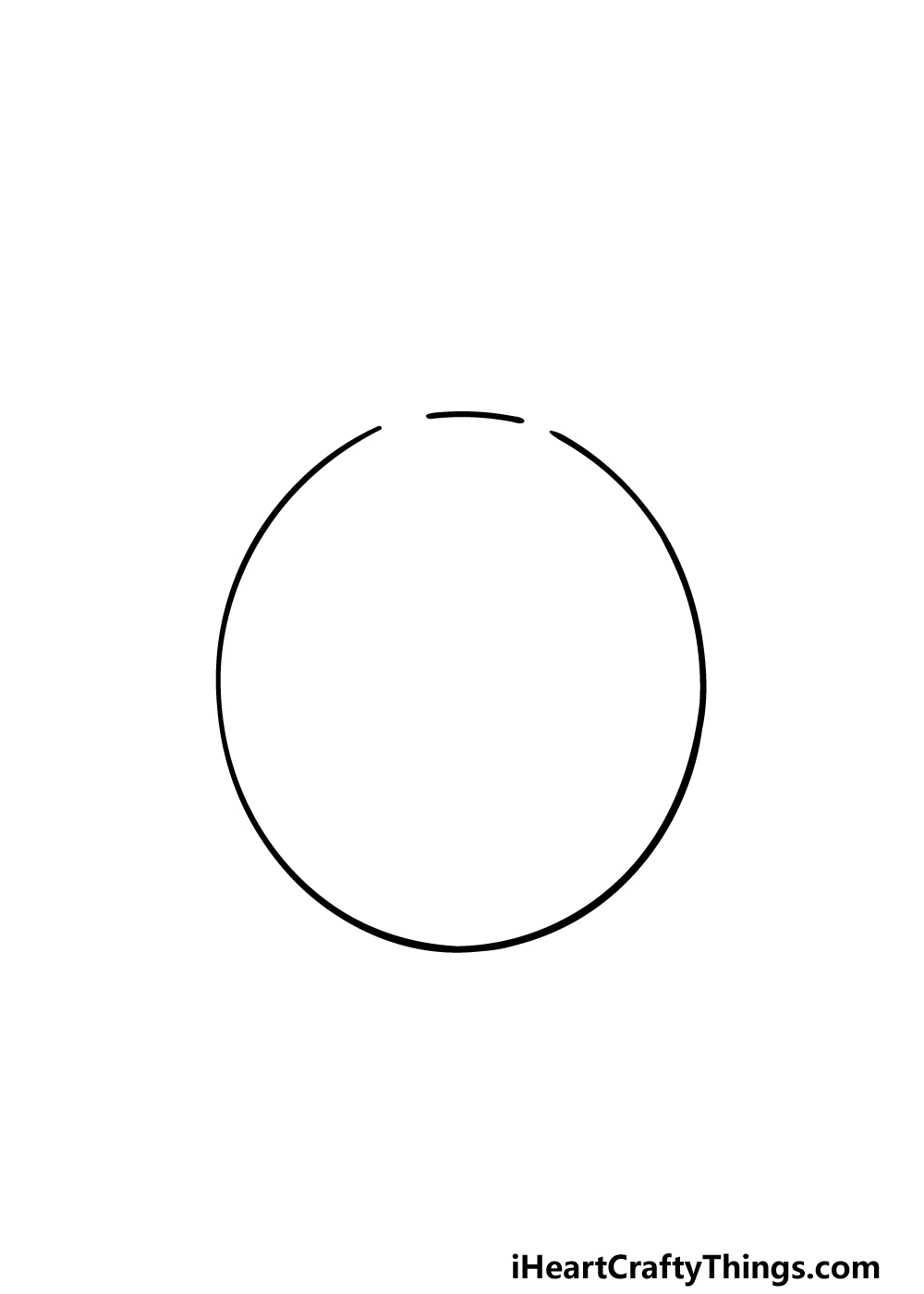 drawing Totoro step 1