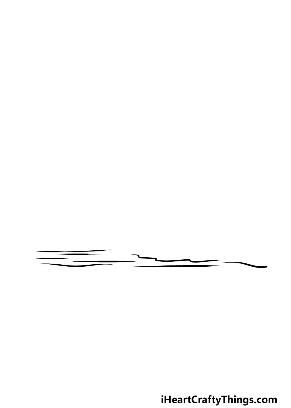 drawing a sunrise step 1