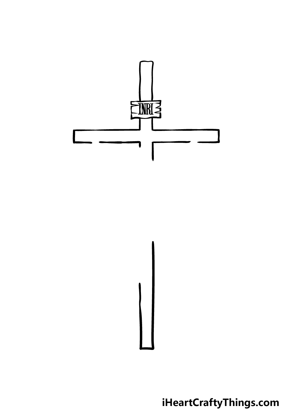 drawing Jesus On The Cross step 1
