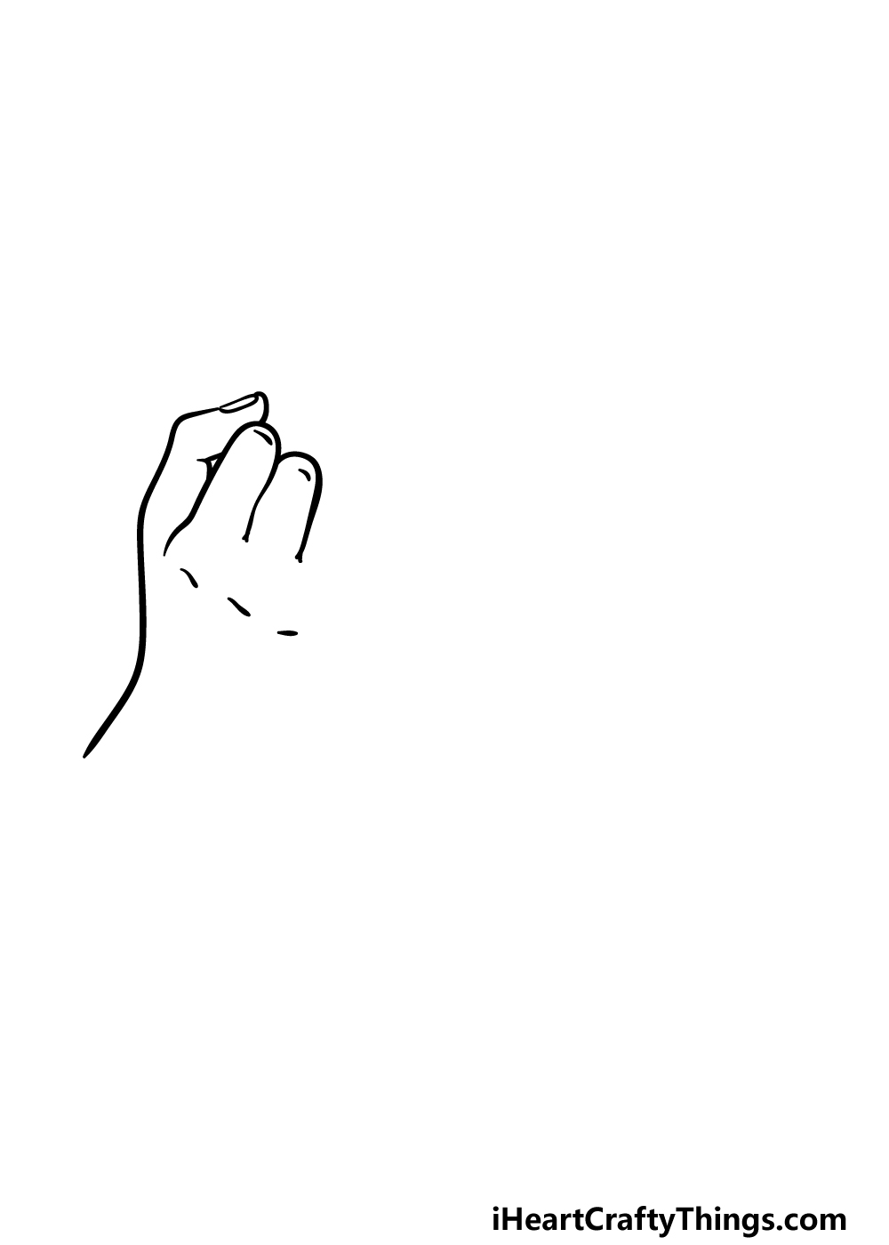 drawing a Pinky Promise step 1