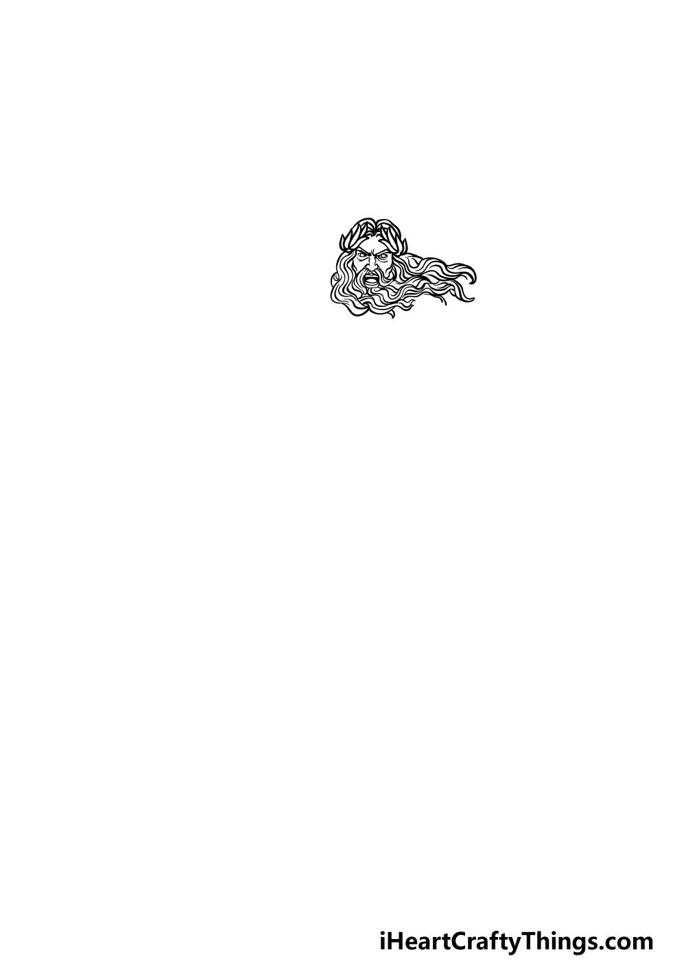 drawing Zeus step 1