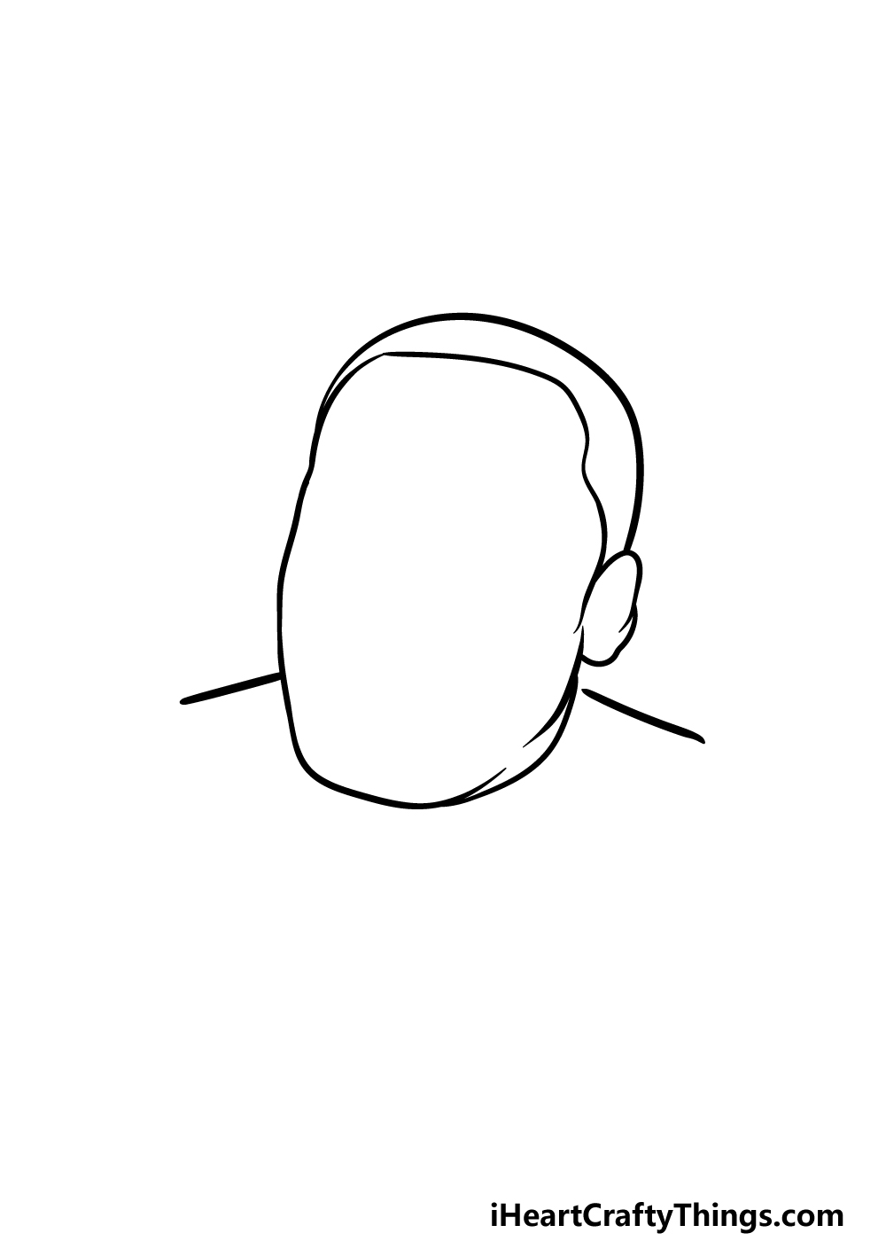drawing Martin Luther King Jr. step 1
