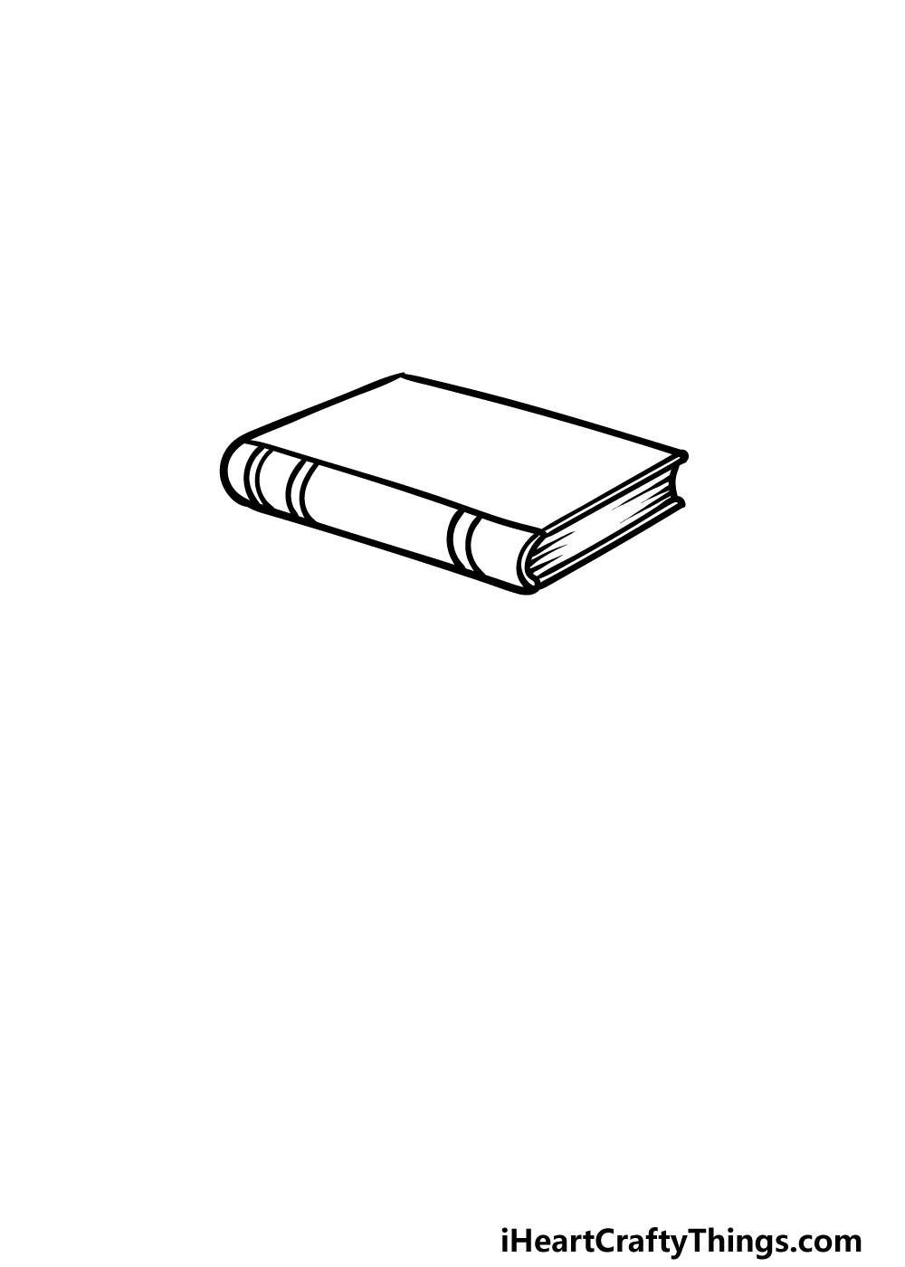 drawing a stack of books step 1