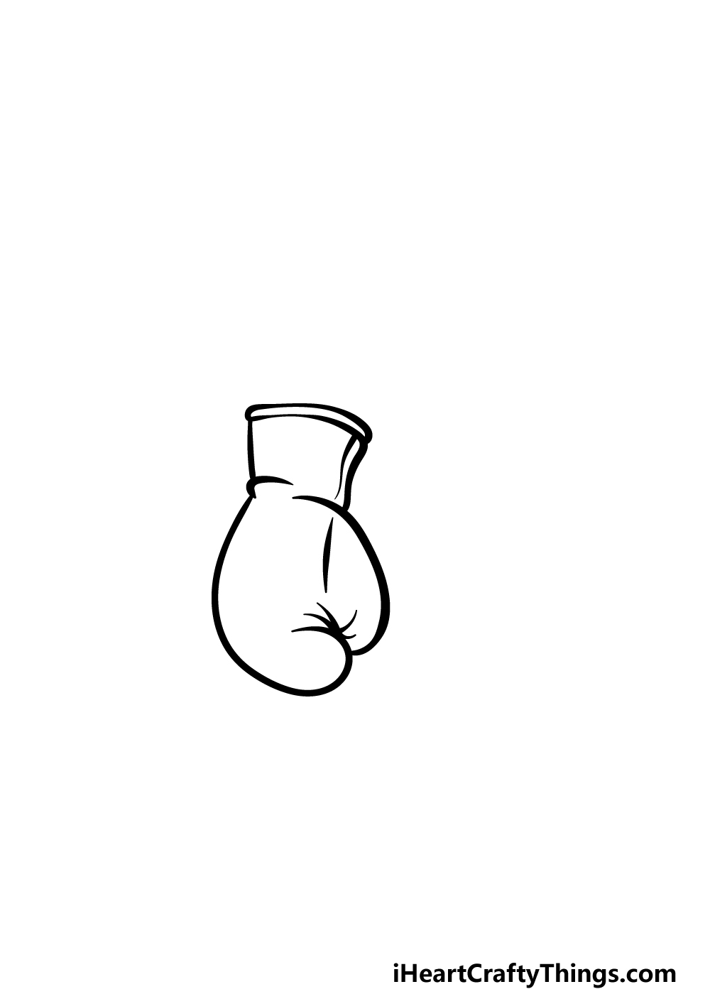 drawing boxing gloves step 1