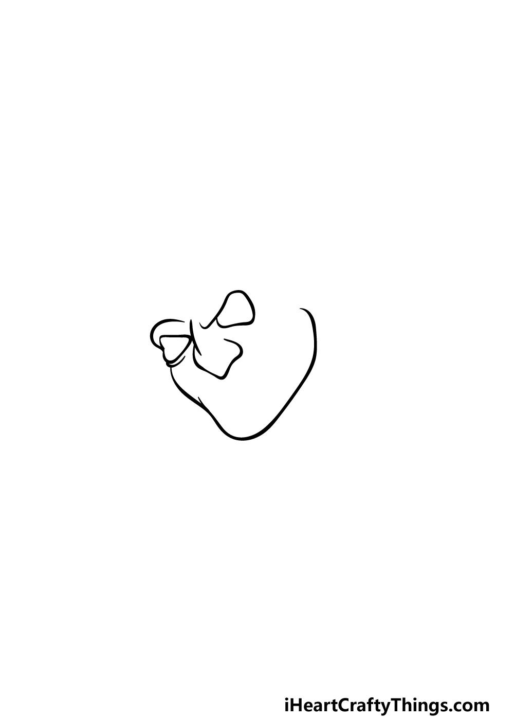 Drawing Freddy Krueger step 1
