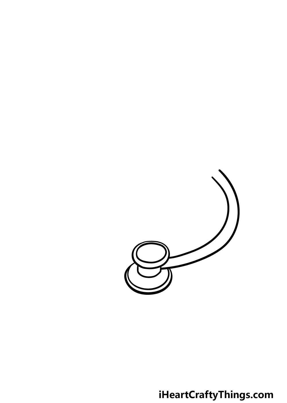 drawing stethoscope step 1