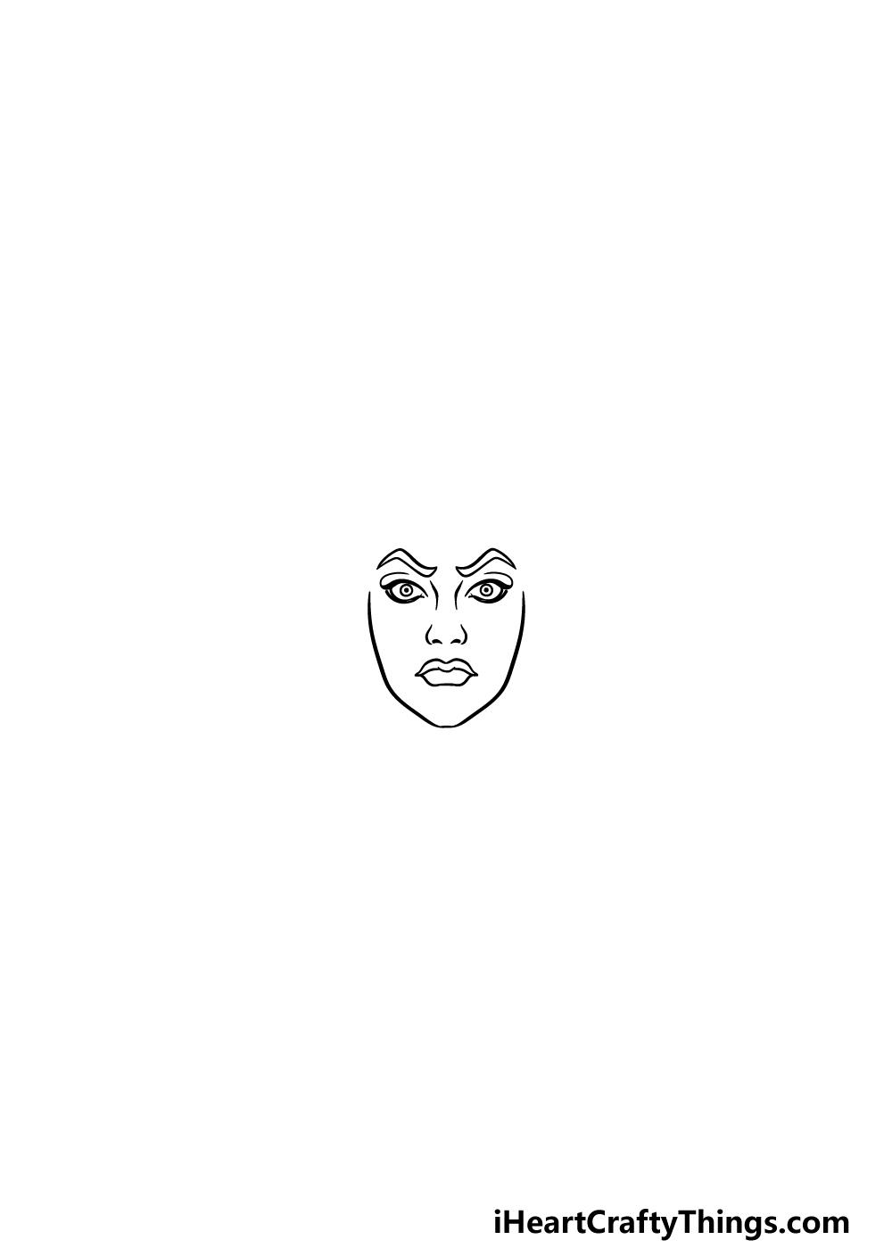drawing Medusa step 1