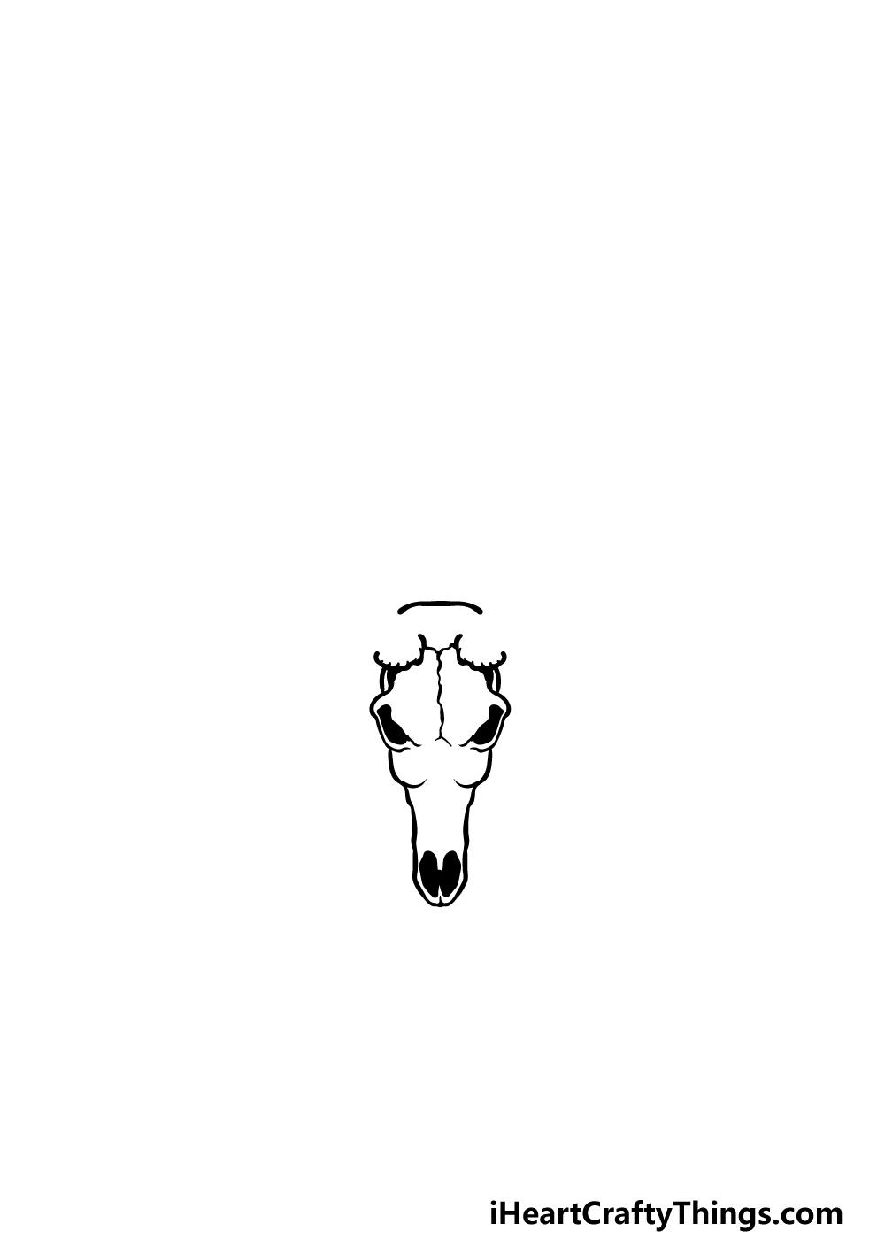drawing a deer skull step 1