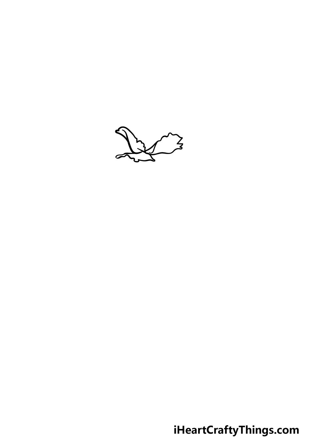 drawing carnation step 1