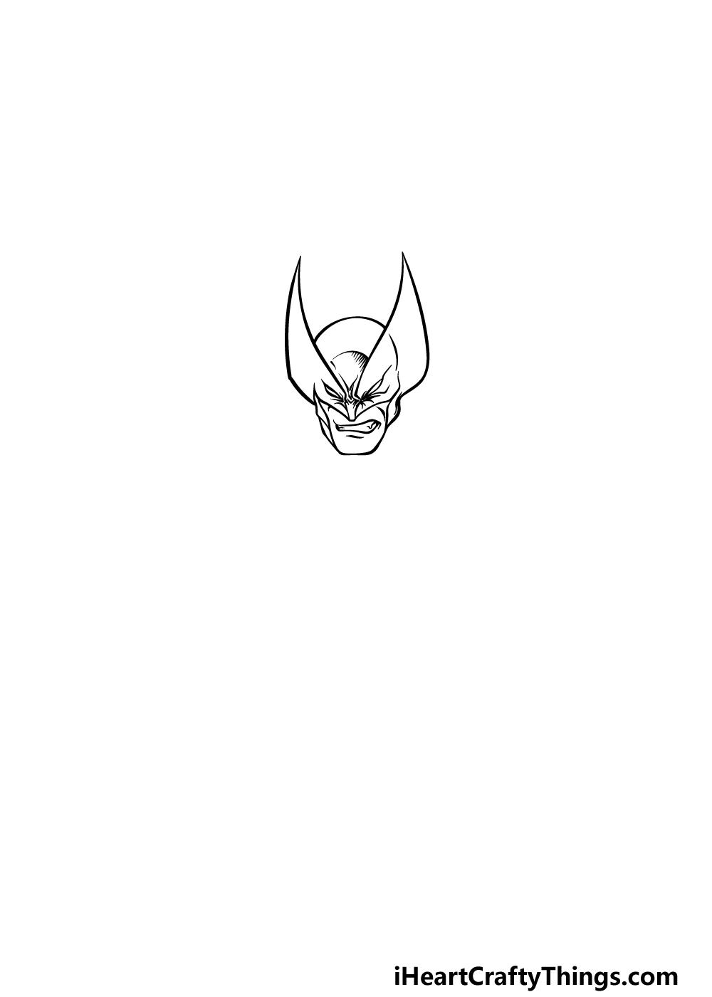 drawing wolverine step 1