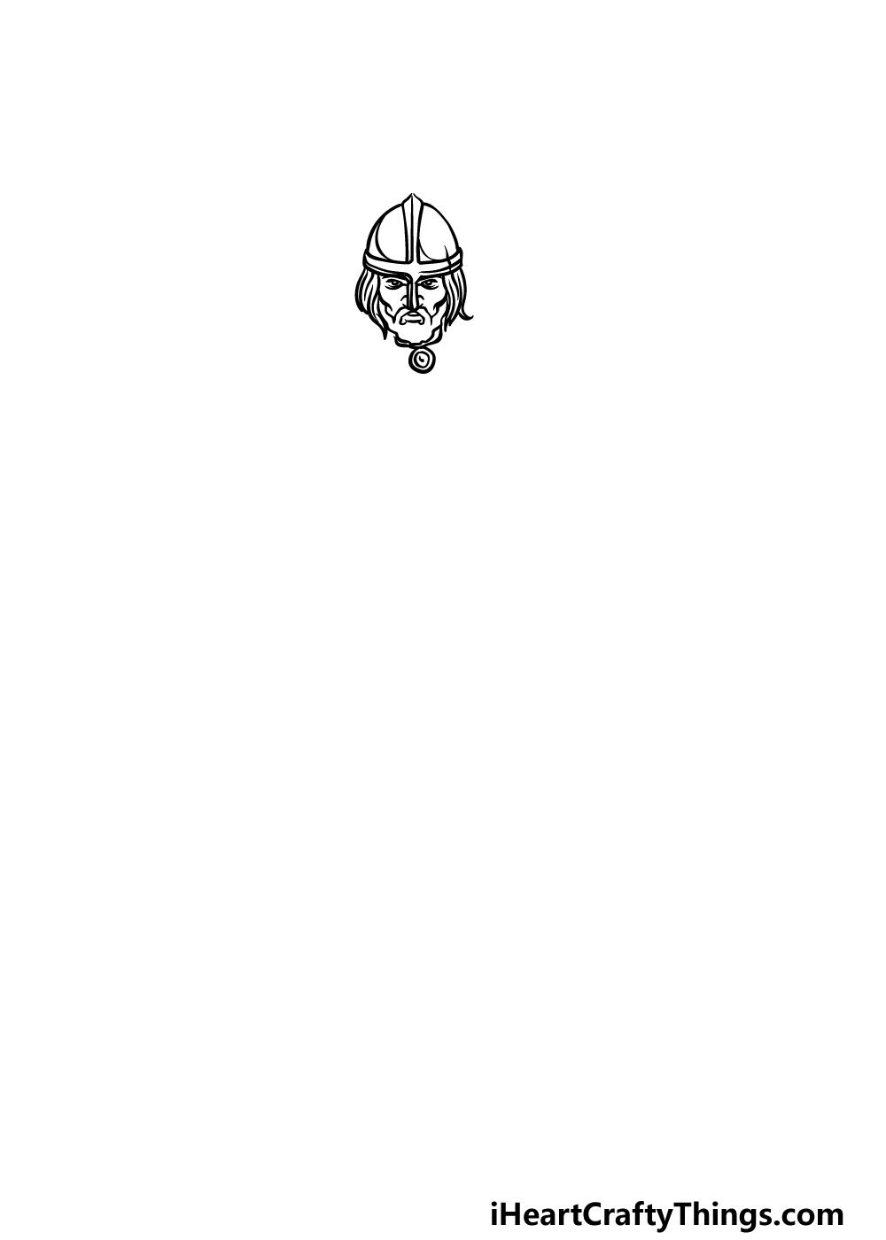 drawing a viking step 1