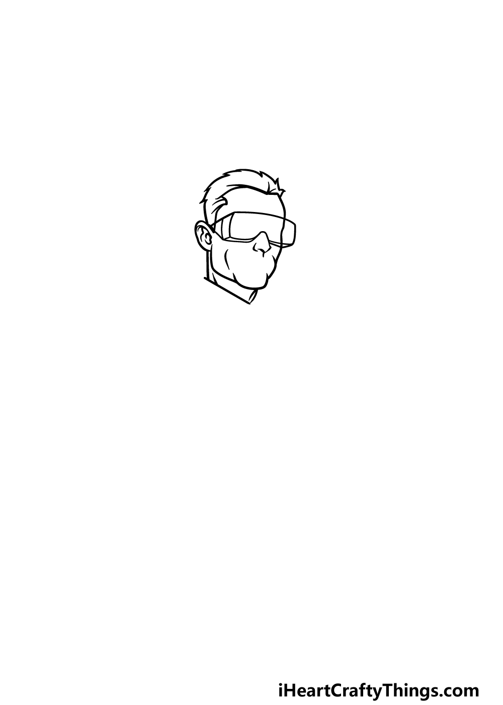 drawing a scientist step 1