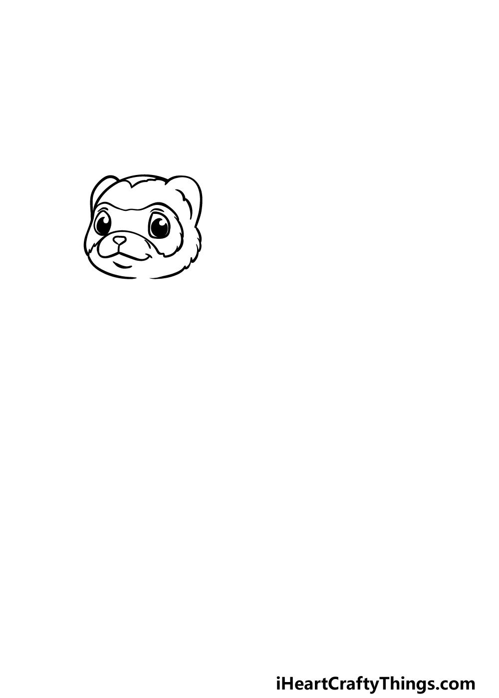 drawing a ferret step 1
