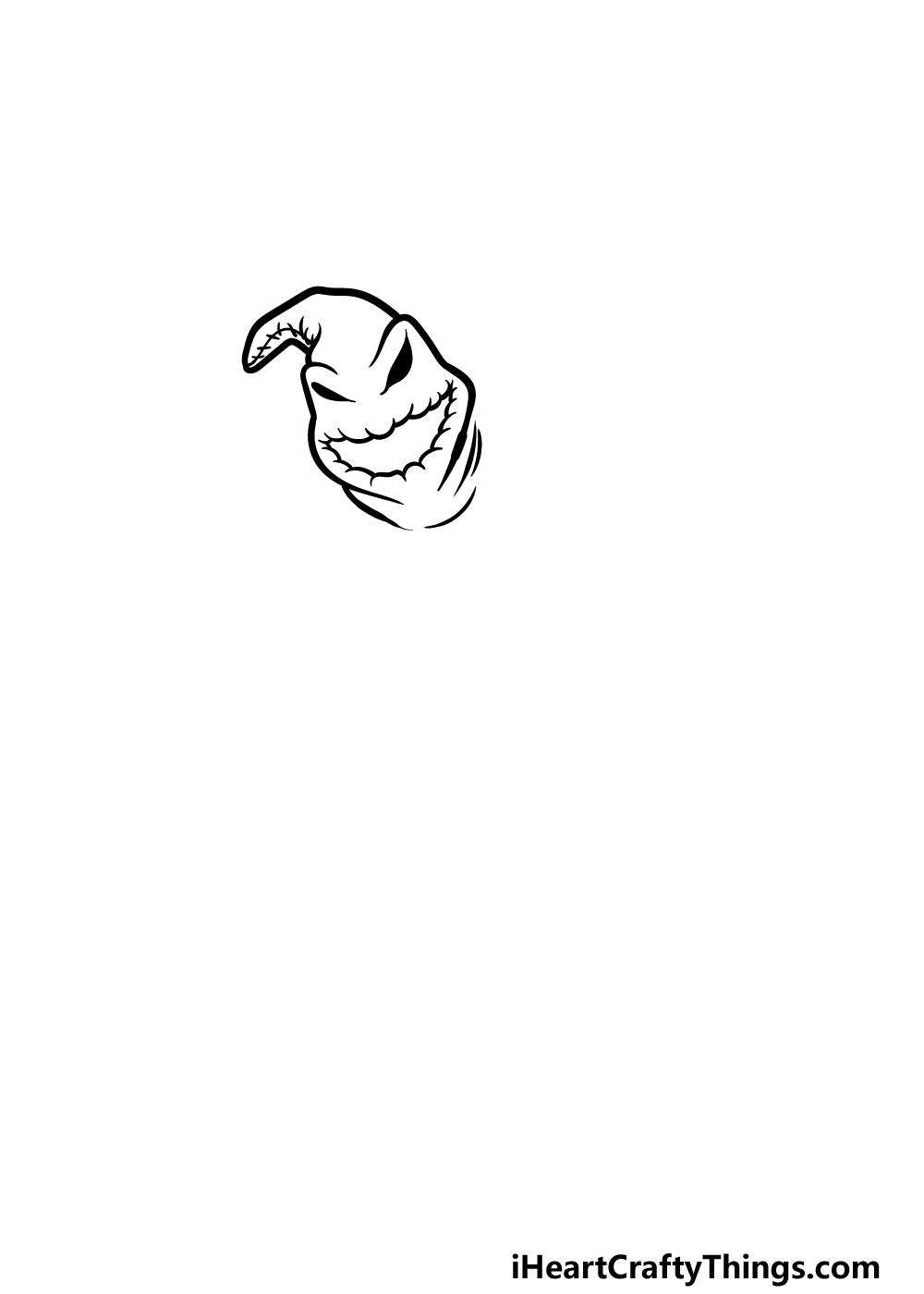 drawing Oogie Boogie step 1